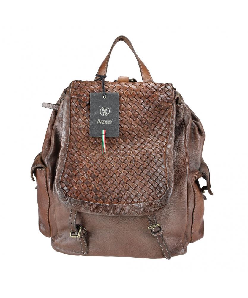 Unisex braided leather backpack AU79 Brand