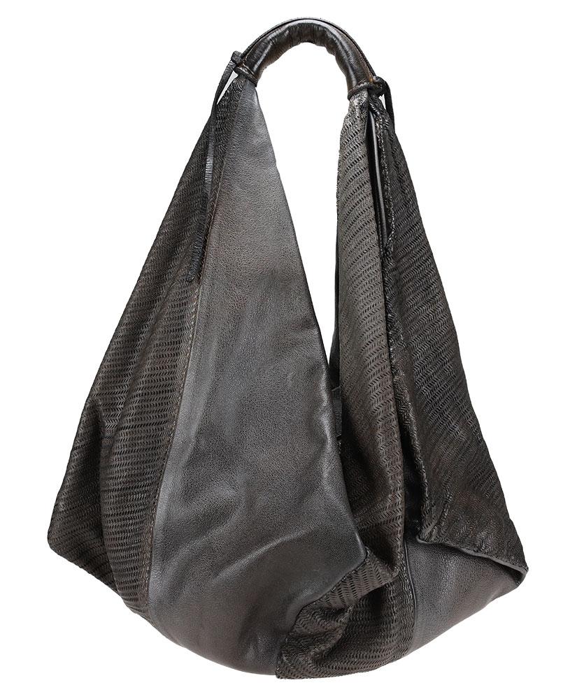copyLarge shoulder bag in patchwork leather