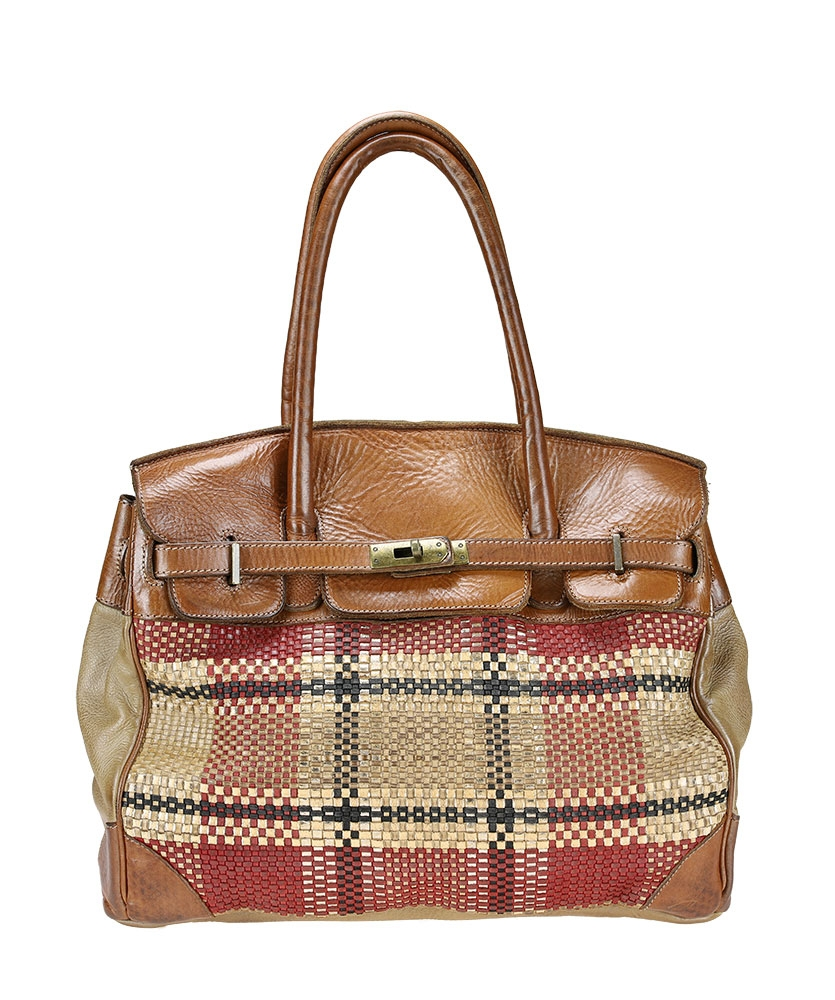 copy of Vintage leather bag with patches