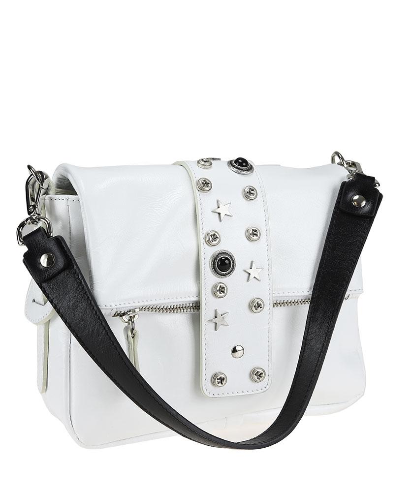Shoulder bag clutch bag with studs