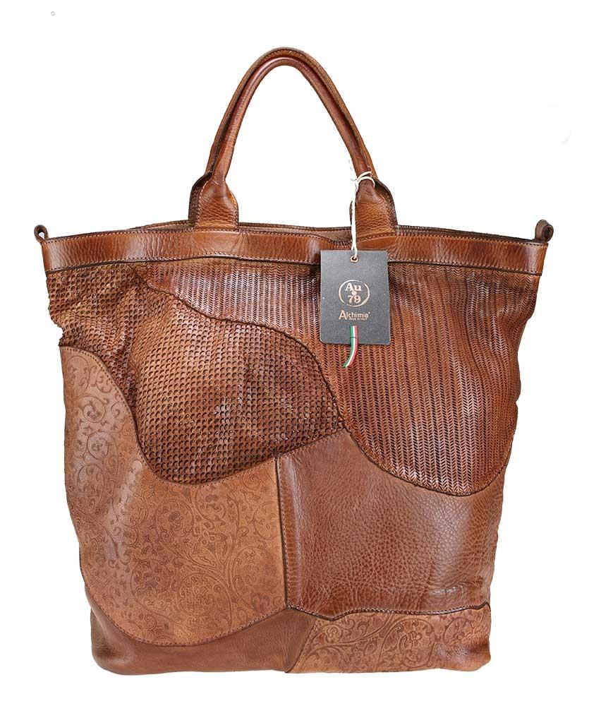 Handbag with shoulder handle