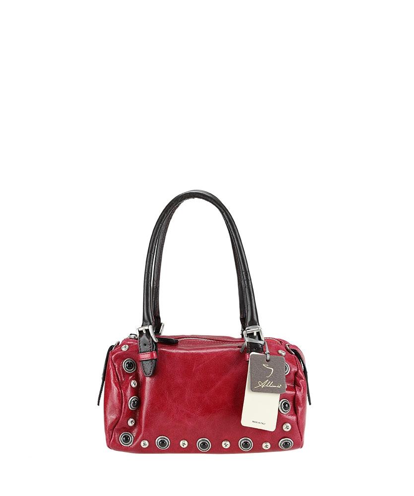 Handbag - Boston bag with studs