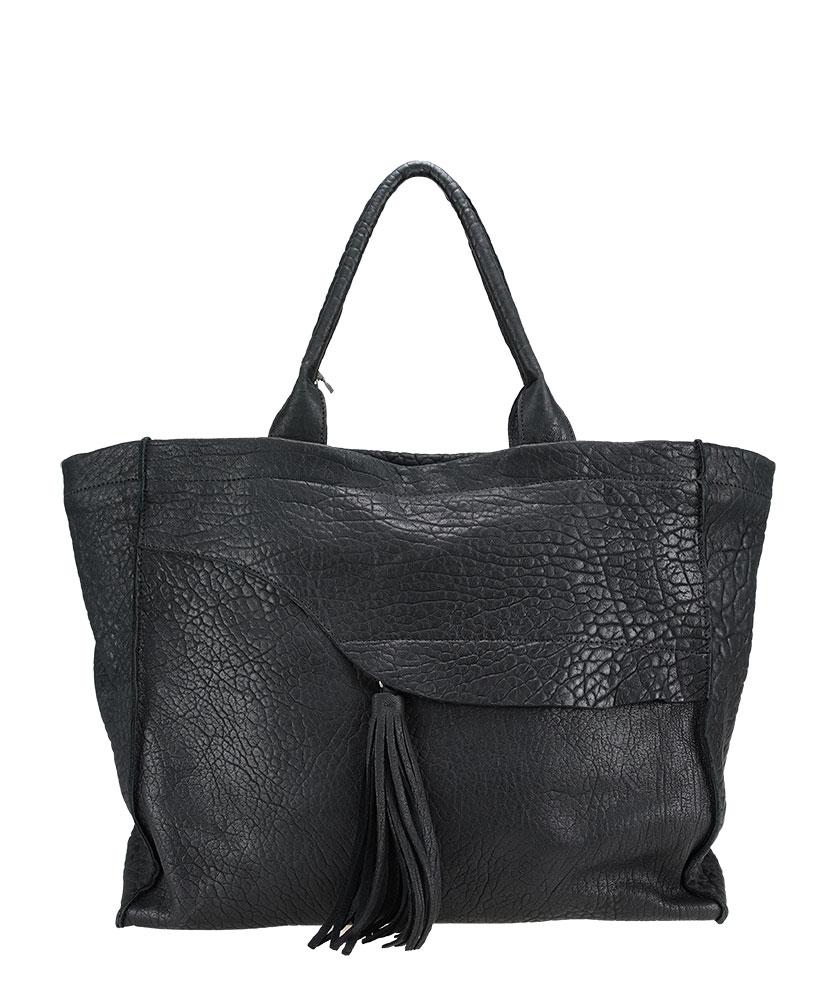 Wrinkle leather handbag