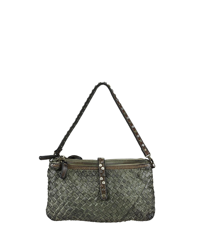 Woven bag / clutch bag with shoulder strap